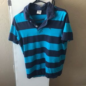 Abercrombie & Fitch Men's Large Blue Polo